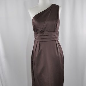 NWOT J. Crew Taupe Satin Dress - 2